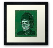 Typographic Icons - Bob Dylan Framed Print