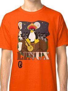 Funny night TUX (linux) Classic T-Shirt