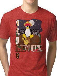 Funny night TUX (linux) Tri-blend T-Shirt