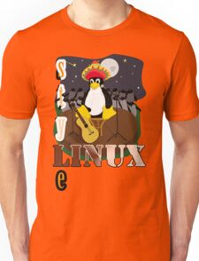 Funny night TUX (linux) Unisex T-Shirt