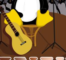 Funny night TUX (linux) Sticker