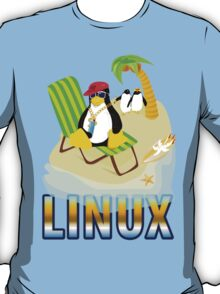 Funny with TUX (linux) T-Shirt