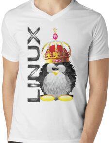 Linux - King Mens V-Neck T-Shirt