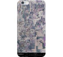 USGS Topo Map Washington State WA Mead 20110401 TM Inverted iPhone Case/Skin