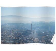 Morning mist, Florence winter 2012 Poster