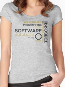 Programmer: typography programming Women's Fitted Scoop T-Shirt