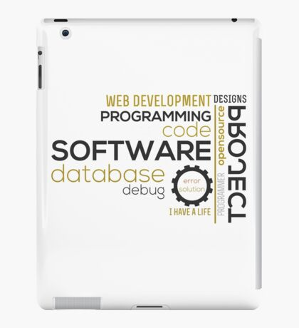 Programmer: typography programming iPad Case/Skin