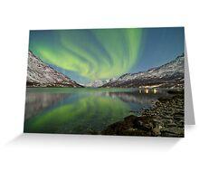 Aurora Reflection Greeting Card