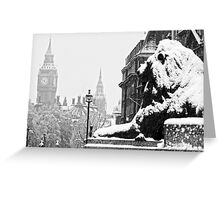 London Icons in the Snow Greeting Card