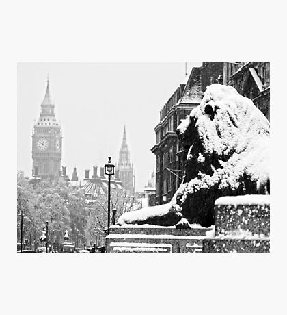 London Icons in the Snow Photographic Print