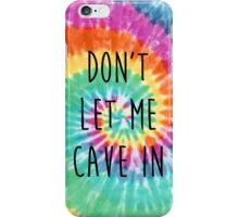 The Wonder Years Tie Dye - 'Don't Let Me Cave In' iPhone Case/Skin