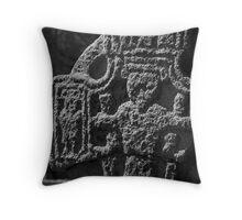 Irish High Cross in black and white, St Mullins, County Carlow, Ireland Throw Pillow