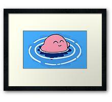 Swimming for joy Framed Print