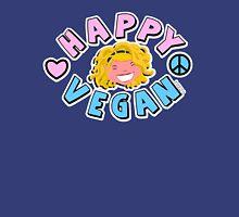 Happy Vegan  Mens V-Neck T-Shirt
