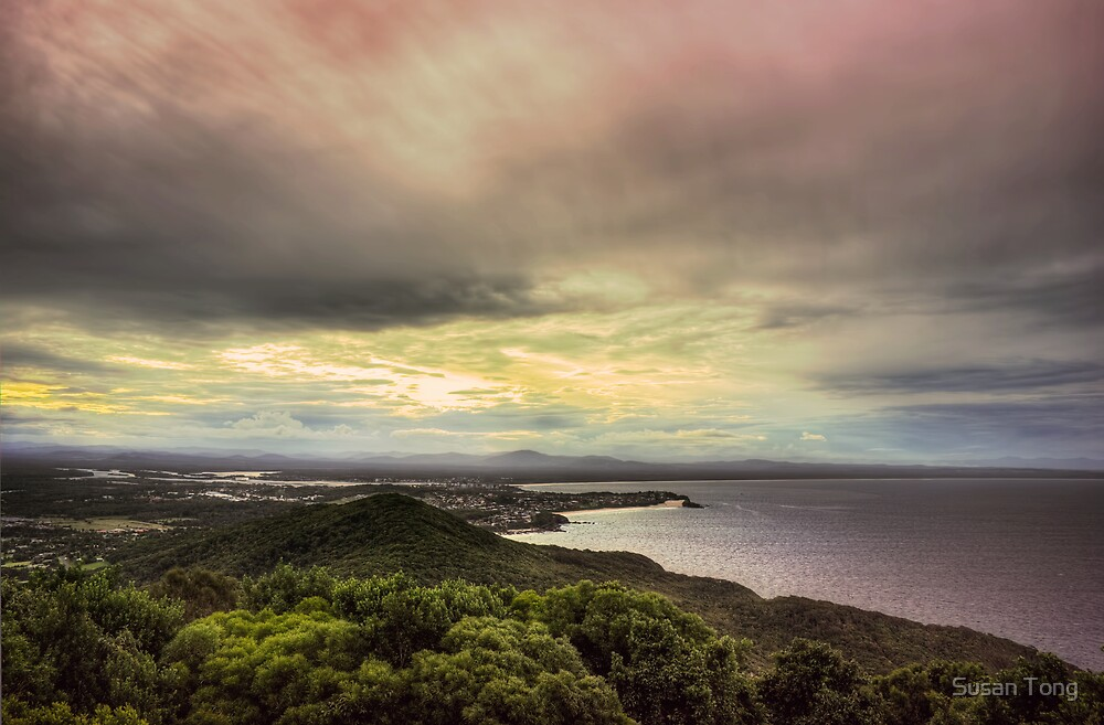 Forster Sunset Rainbow by Susan Tong