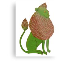 Asparagus Lion, King of the Vegetables Metal Print