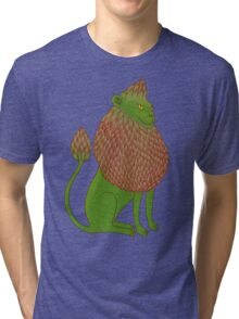 Asparagus Lion, King of the Vegetables Tri-blend T-Shirt