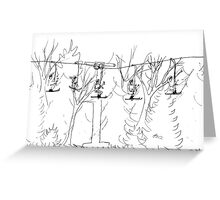 Ski Lift Greeting Card