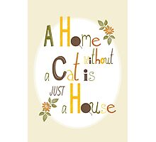 A Home without a Cat is just a House Photographic Print