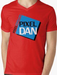 Pixel Dan Logo Mens V-Neck T-Shirt