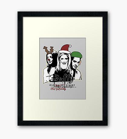 Buffy the Christmas Slayer! Framed Print