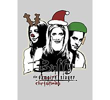 Buffy the Christmas Slayer! Photographic Print