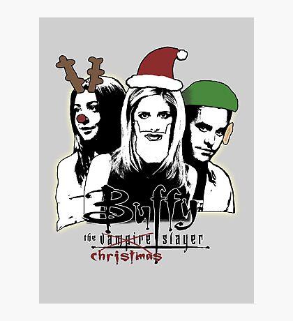 Buffy the Christmas Slayer! Photographic Print