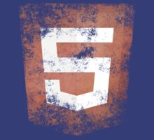 HTML5 Logo Distressed by Alisdair Binning