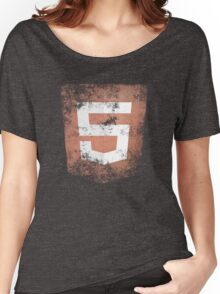 HTML5 Logo Distressed Women's Relaxed Fit T-Shirt