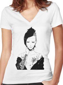 Uta Tokyo Ghoul Women's Fitted V-Neck T-Shirt