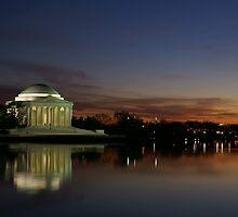 Jefferson Memorial Sunset by asmarra