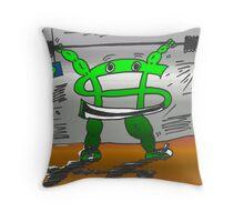 Buck gets stronger again - binary options cartoon Throw Pillow
