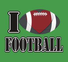 I Love Football T-shirt One Piece - Short Sleeve