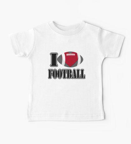 I Love Football T-shirt Baby Tee