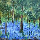 Blue in the Forest- Acrylic Painting by Esperanza Gallego