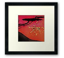 SaNSkRiT LOve  and SpiRaLinG hOokEd CroSs for Valentines  Framed Print