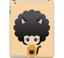 Black nyaneko afro girl iPad Case/Skin