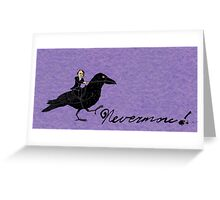Poe and Raven Greeting Card