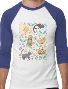 My Cats Men's Baseball ¾ T-Shirt