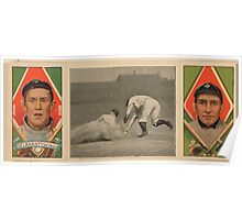Benjamin K Edwards Collection Jas Delahanty David Jones Detroit Tigers baseball card portrait Poster