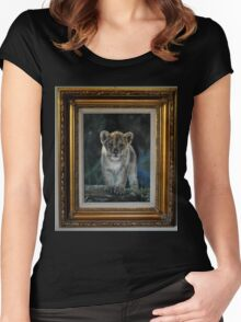 NOTHING IS AS PRETTY AS THIS LITTLE LION KITTY Women's Fitted Scoop T-Shirt