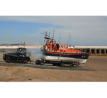 Launching The Ramsey Lifeboat Photographic Print