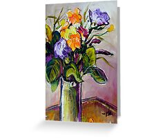 Freesia Still-Life Greeting Card