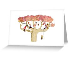 Playing In The Tree Greeting Card