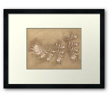Lilac Dreams on Parchment Framed Print