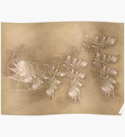 Lilac Dreams on Parchment Poster