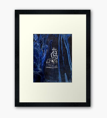 Cacique King-Hispanic Caribbean Taino Indian Caves Paintings Framed Print