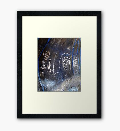Spirits of the Cave-Hispanic Caribbean Taino Indian Caves Painting Framed Print