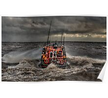 Aldeburgh Mersey Class RNLI lIfeboat Poster