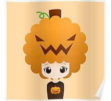 Pumpkin afro girl Poster